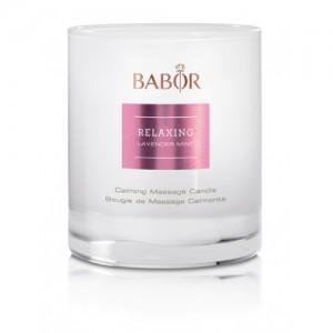 BABOR Relaxing Lavender Mint Calming Massage Candle - Geurkaars en massagebalsem