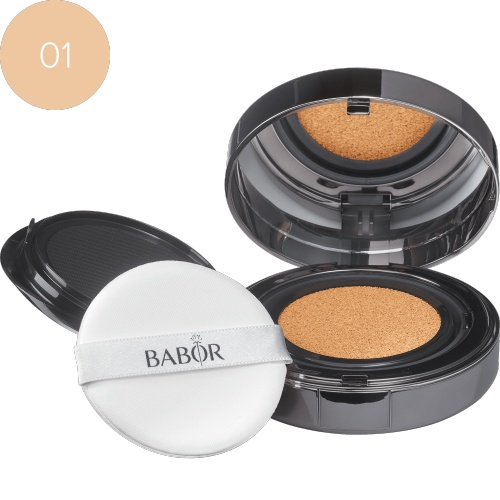 BABOR Foundation Cushion Foundation 01 ivory biedt een direct lifting-effect